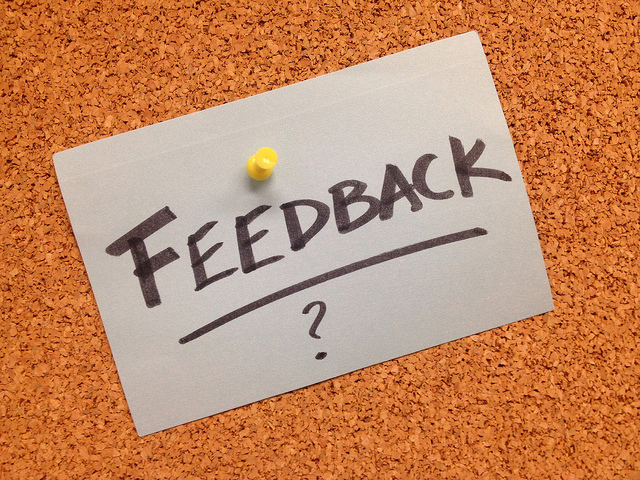 Don't Be Afraid to Get Feedback